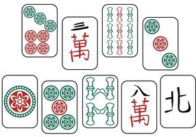 Vecteurs Mahjong gratuits vecteur