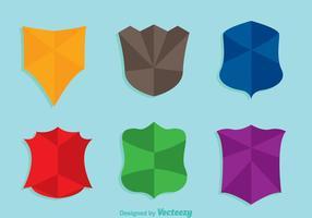 Icônes de couleurs de forme de bouclier