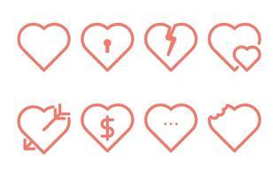 Icône de ligne de coeur vecteur