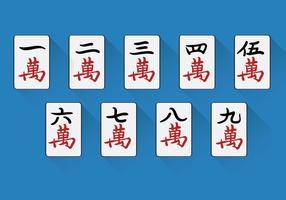 Vecteur Mahjong chinois