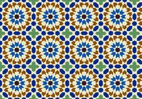 Vecteur de fond de motif marocain