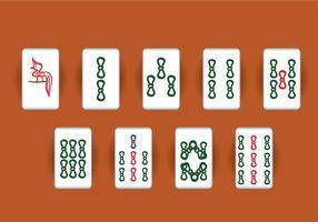 Jeu vectoriel mahjong
