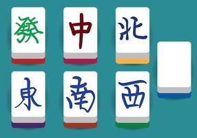 Éléments vectoriels de Mahjong vecteur