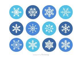 Flocons de neige Vector Free