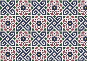 Vecteur floral de fond de motif marocain