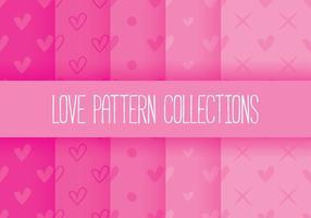 Collections de modèles d'amour vecteur