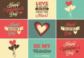 Mignon ensemble d'étiquettes de la Saint-Valentin