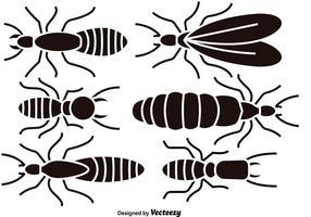 Silhouettes de termites noires