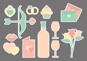 Éléments vectoriels Valentine's Day vecteur
