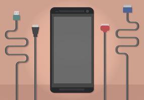 Chargeurs de téléphones vectoriels vecteur