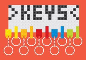 Titulaires de clés lego vecteur