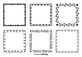 Cadres vectoriels à main dessinée vecteur