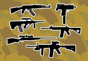 Ar15 fusils icônes vectorielles