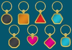 Porte-clés dorés vecteur