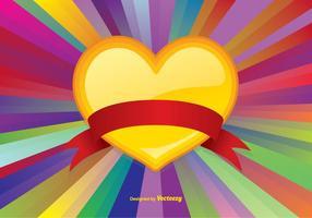 Fond coloré vecteur de coeur