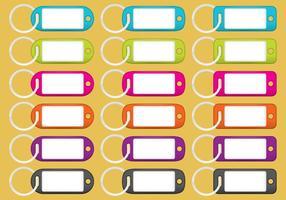 Porte-clés colorés vecteur