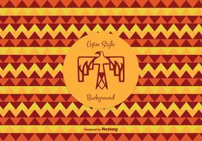 Contexte vectoriel de motif de style aztèque