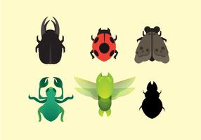 Vecteur gratuit d'icônes de termites et d'insectes