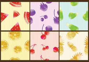 Patrons de fruits d'aquarelle