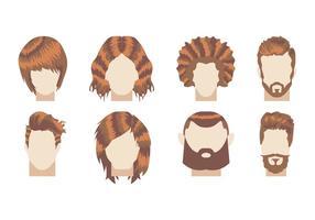 Vecteur d'illustration de coiffure