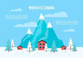 Fond d'écran Flat Winter gratuit vecteur