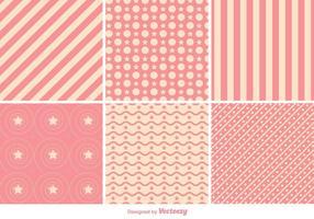 Vecteurs géométriques de motifs roses vecteur