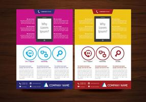 Brochure vectorielle Design Flyer Modèle de présentation en format A4
