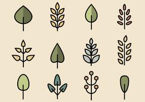 Pack de feuilles libres vecteur