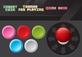 Vecteurs de contrôle de jeux d'arcade