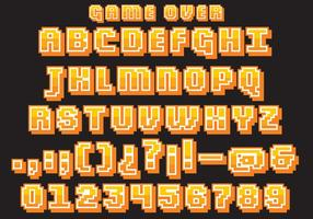 Vecteur de type de jeu vidéo rétro