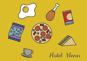 Pack d'hôtels du menu de l'hôtel vecteur