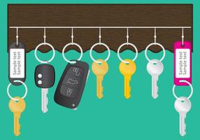 Vecteur porte-clés murale