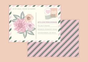 Carte postale vecteur