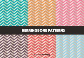 Ensemble vectoriel de motif rétro Herringbone