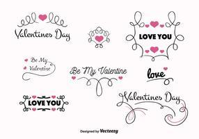 Étiquettes vectorielles Valentines Day