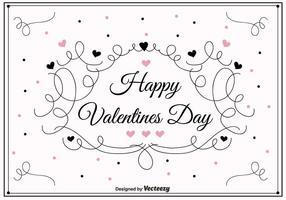 Swirly valentines day vector background