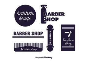 Vecteur d'étiquettes de coiffeur