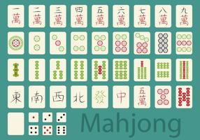 Jeu mahjong vecteur