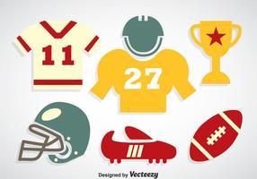 Vecteur d'icônes de couleurs de football