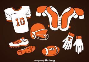 Ensemble d'icônes d'éléments de football vecteur