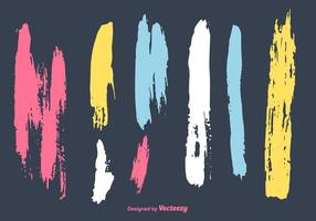 Vector de rayures de peinture colorées