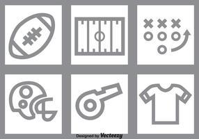 Ensemble d'icônes grises de football vecteur