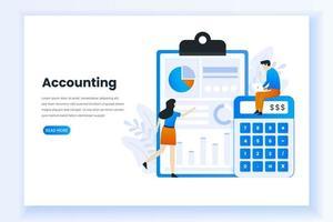 page de destination de la comptabilité et de l'audit vecteur