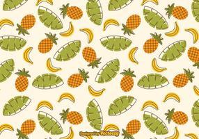 Patron libre des fruits tropicaux vecteur