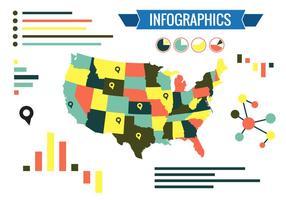 Vector d'infographie des états