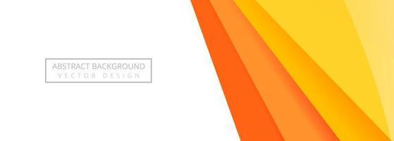 bannière de couches orange droite moderne