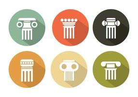 Ensemble vectoriel de piliers romains