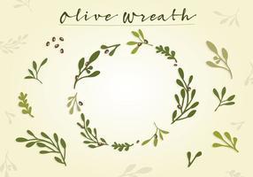 Vecteur libre de couronnes d'olivier