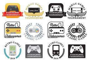 Logos de jeux vidéo vecteur