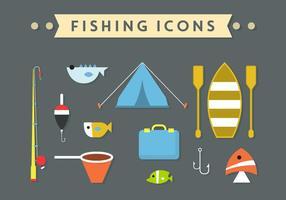 Accessoires de pêche en vecteur